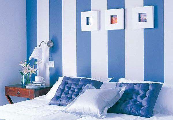 Cuarto con colores blanco y azul | decoracion hogar en 2019 ...