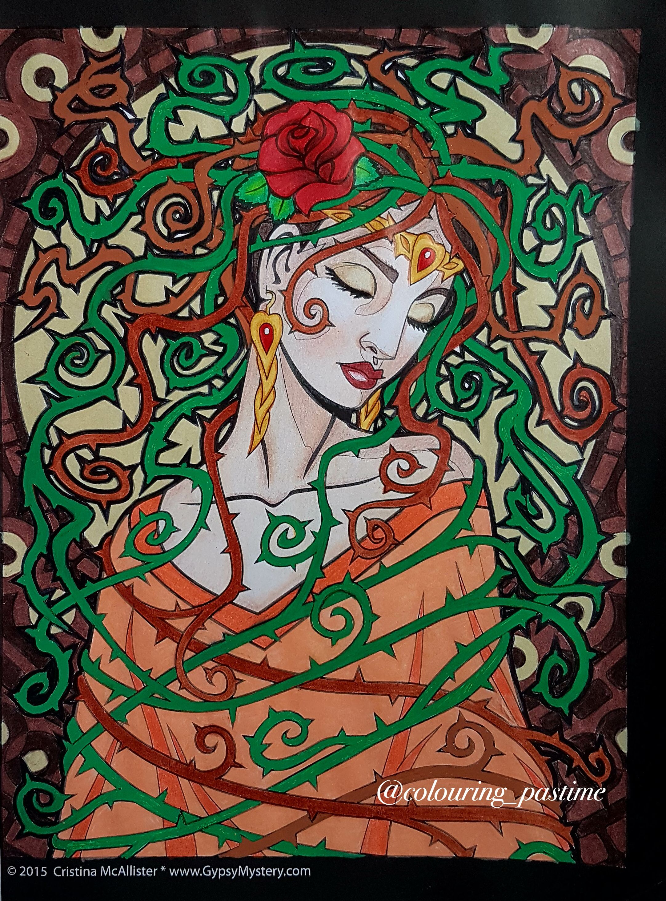 Briars from Spirit Women colouring book by Cristina McAllister ...