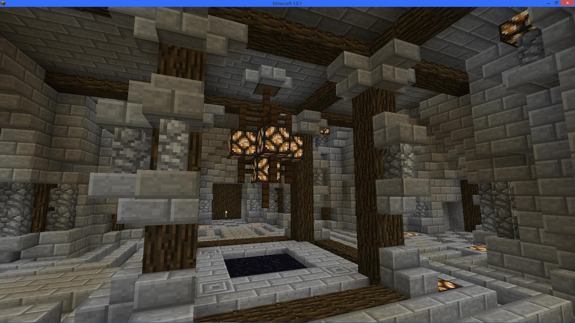 Really Cool End Portal Room In Minecraft Minecraft Minecraft Designs Minecraft Houses