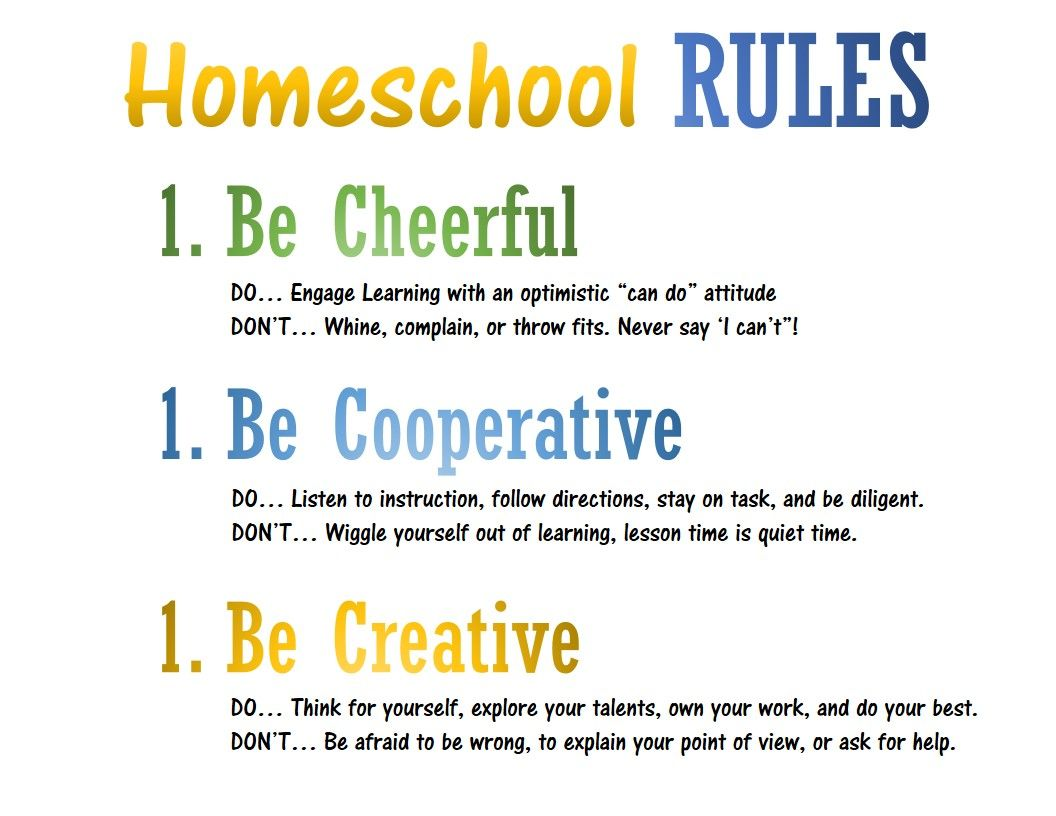 An Easy Class Rules Concept For A Homeschool Classroom