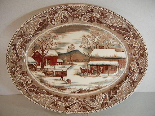 Johnson brothers home for thanksgiving 20 1 2 turkey platter beautiful dinnerware pinterest - Johnson brothers vajilla ...