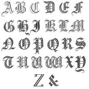 Old English Calligraphy Alphabet Free Lessons Tattoo