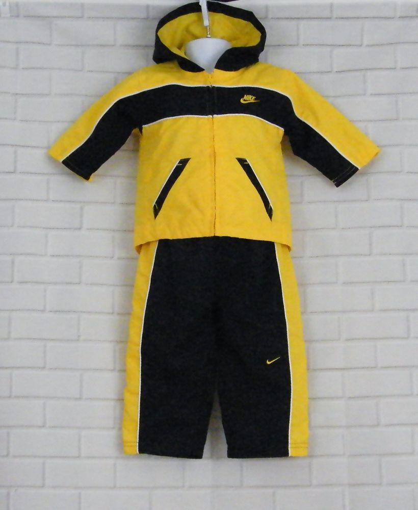 promo code 81939 a51cc Nike Tracksuit Toddler 12 Months 2 Piece Jogging Running Suit Yellow Blue  Nike Tracksuit Casual