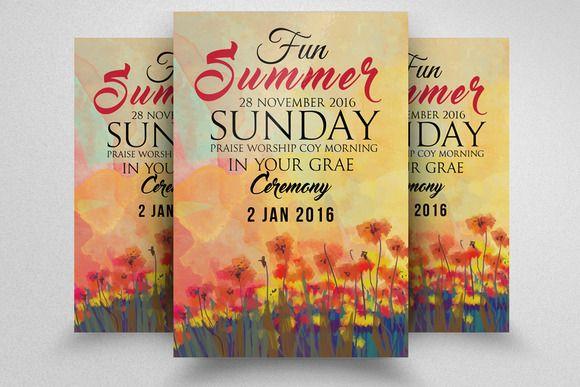 Summer Fun Party Flyer Template Creativework247 Flyer Templates