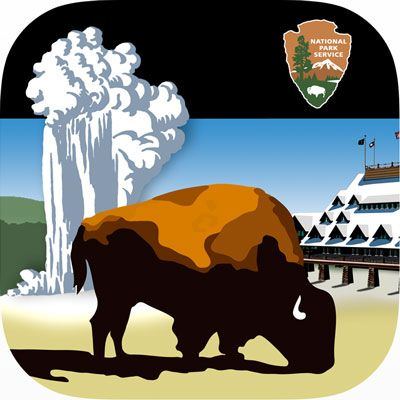 App Icon Which Depicts A Bison In Front Of An Erupting Old