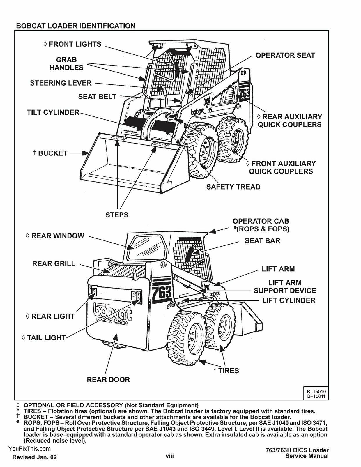 instant download bobcat 763 skid steer loader repair service manual final drive bobcat 773 parts diagrams [ 1240 x 1604 Pixel ]
