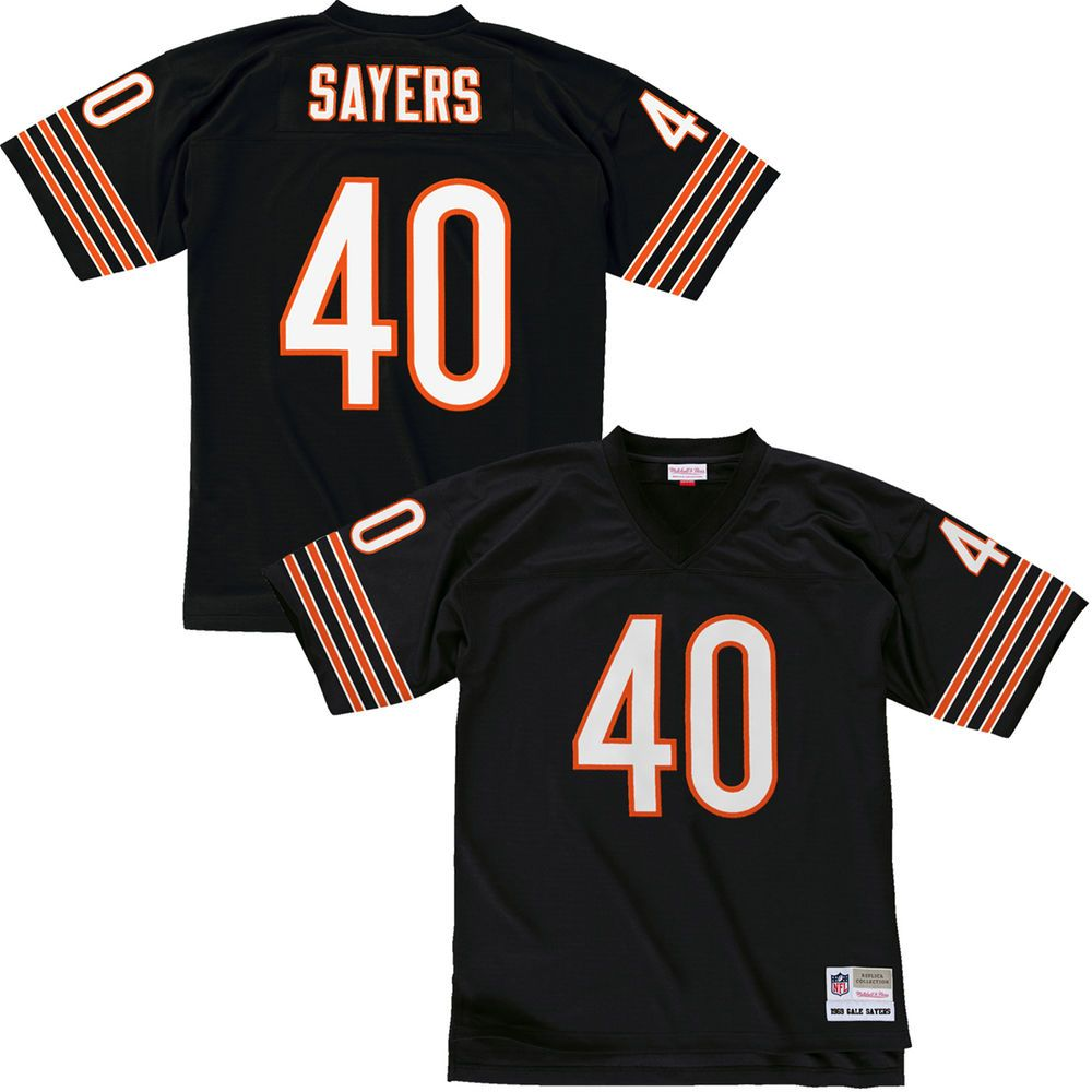 best sneakers f507f 9762e Mitchell & Ness Gale Sayers Chicago Bears Navy Blue Replica ...