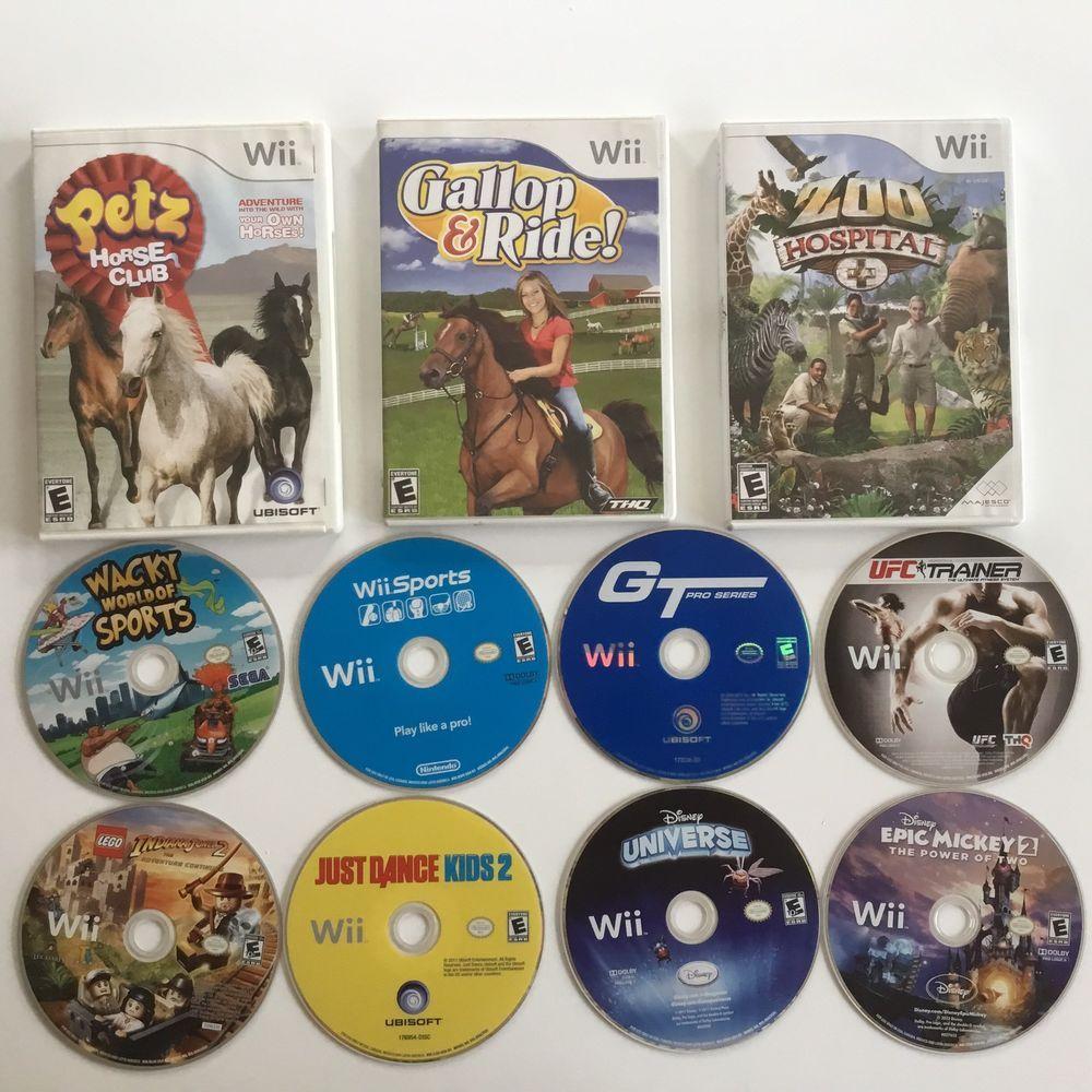 Nintendo Wii Lot of 11 video games discs 3 have original
