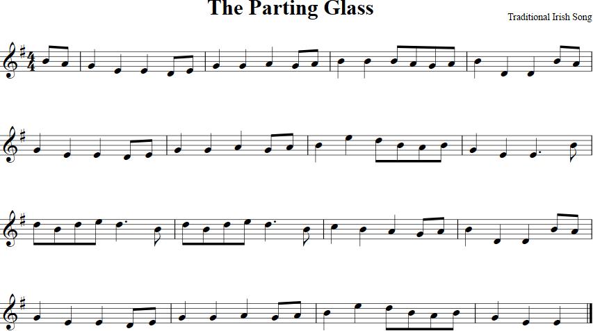 The Parting Glass Sheet Music For Violin Httpviolinsheetmusic