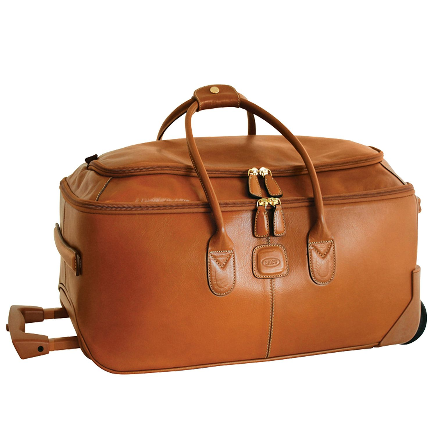 43eed66dd9 BRIC S Life Pelle 21   Carry-On Rolling Duffle - Brown Cognac ...