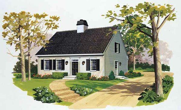 Cape Cod Style House Plan 90245 With 3 Bed 3 Bath Cape Cod Style House Cape Cod House Exterior Cape Cod House Plans
