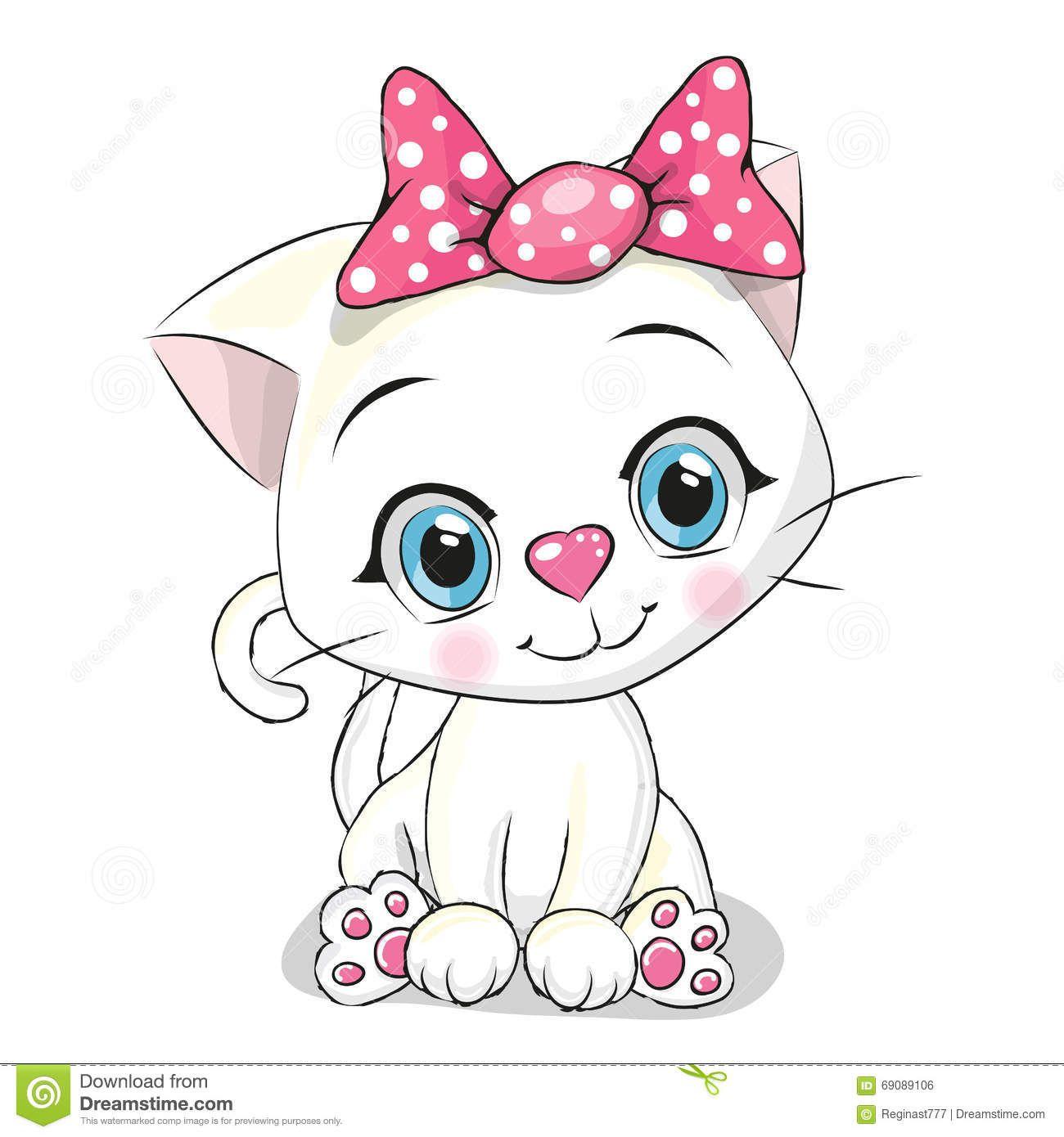 cute cartoon white kitten background 1300—1390