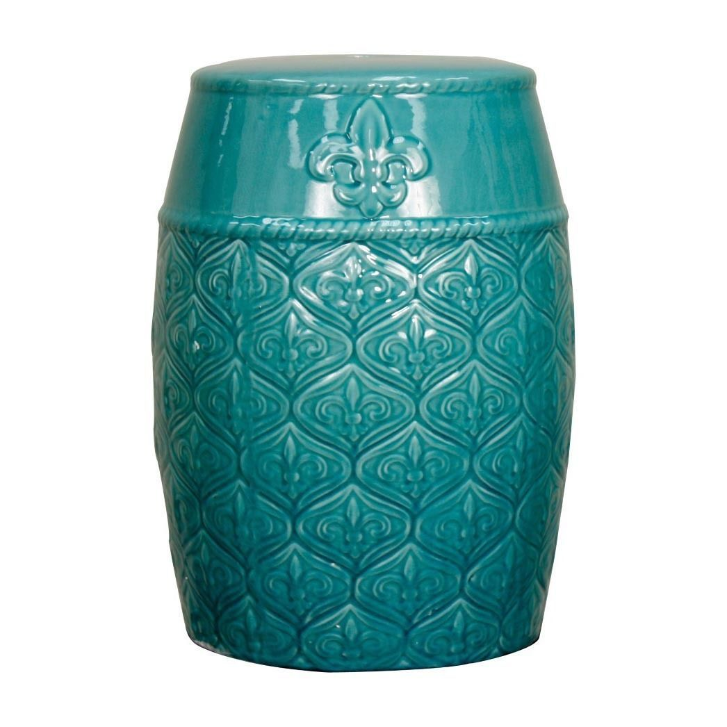 Fine Blue Spear Ceramic Garden Stool Turquoise Outdoor Daccor Pdpeps Interior Chair Design Pdpepsorg