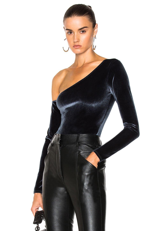 9830e0278c FLEUR DU MAL Velvet One Shoulder Bodysuit. #fleurdumal #cloth ...