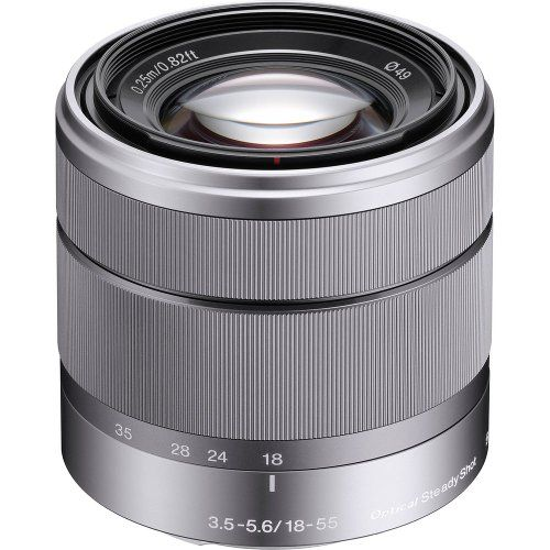 Sony Alpha Sel1855 E Mount 18 55mm F3 5 5 6 Oss Lens Silver Sony Http Www Amazon Com Dp B003u8q7tc Ref Cm Sw Digital Camera Lens Mirrorless Camera E Mount