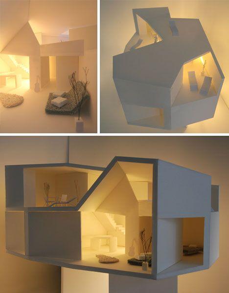 Architectural Model Interior Grupo Aranea Southern Spain