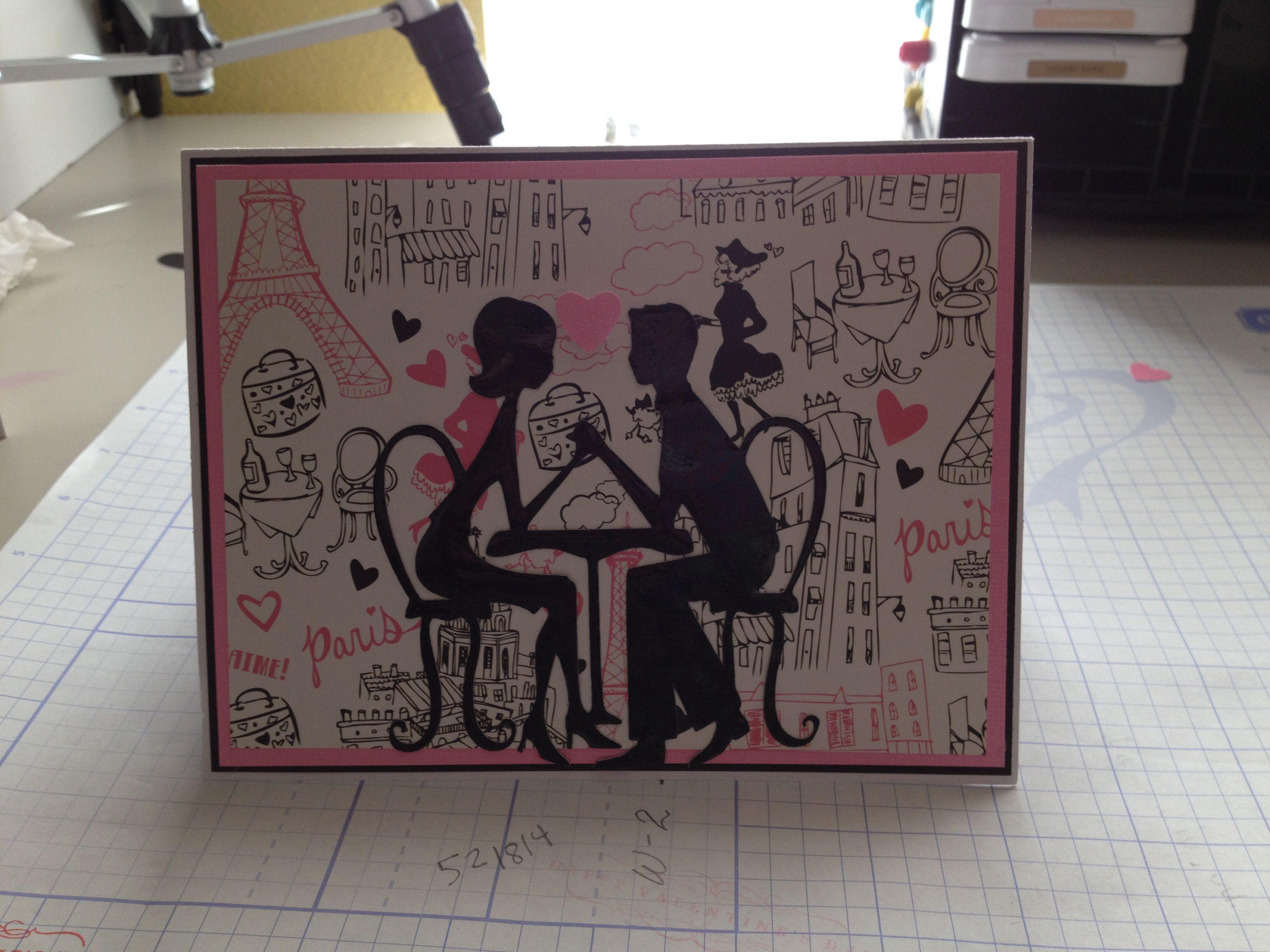 Card using cricut sweetheart cartridge Cricut cards