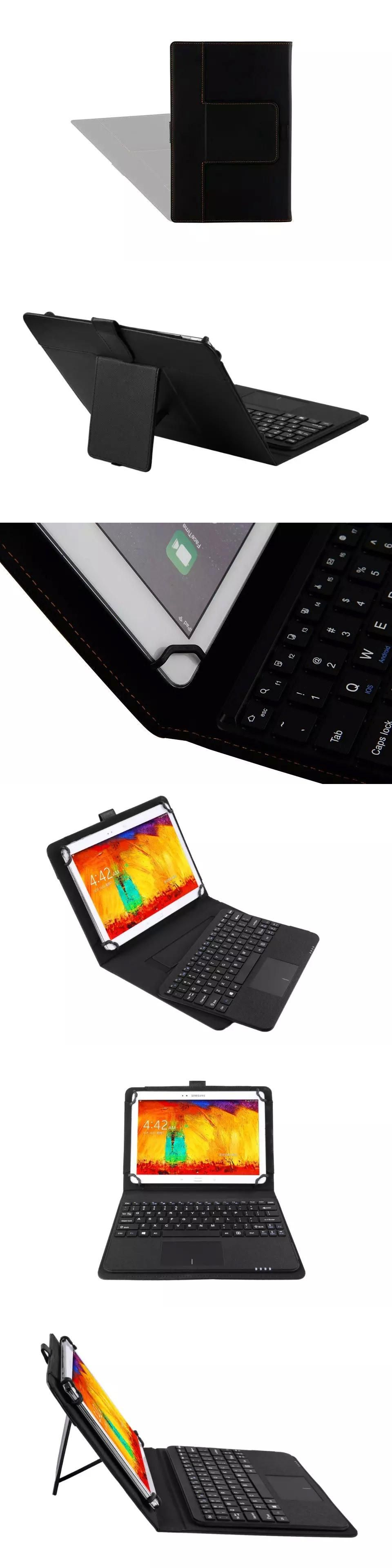 Detachable Wireless Bluetooth Keyboard With Touchpad PU Leather Case Cover Stand for ASUS MeMO Pad