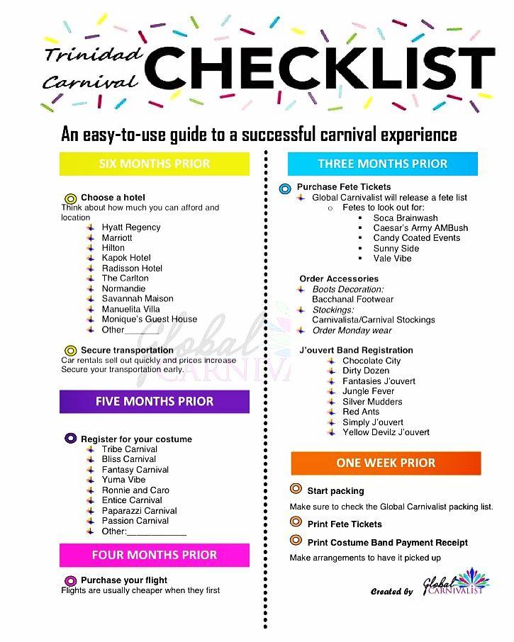 Trinidad Carnival 2017 Checklist Planning To Go To