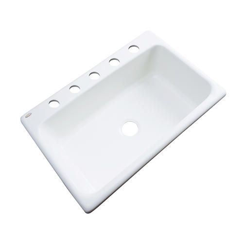 """Brookwood 33"""" X 22"""" Single Bowl Kitchen Sink With 5 Faucet Holes Extraordinary Menards Kitchen Sinks Decorating Design"""