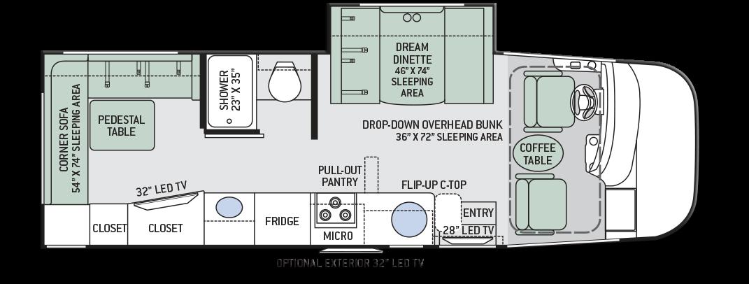 Thor-Axis-25.2-Motorhome-Floor-Plan