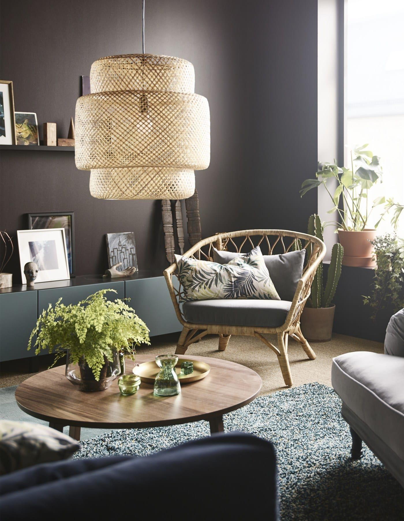 A modern and cosy living room | Ikea living room