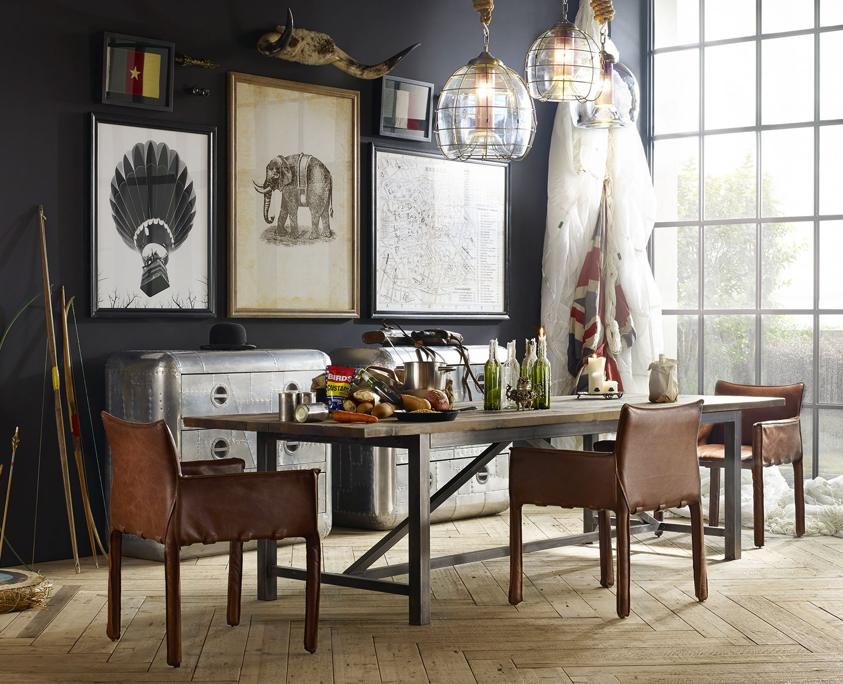 Faraday lighting and Axel dining by Timothy Oulton. #timothyoulton ...