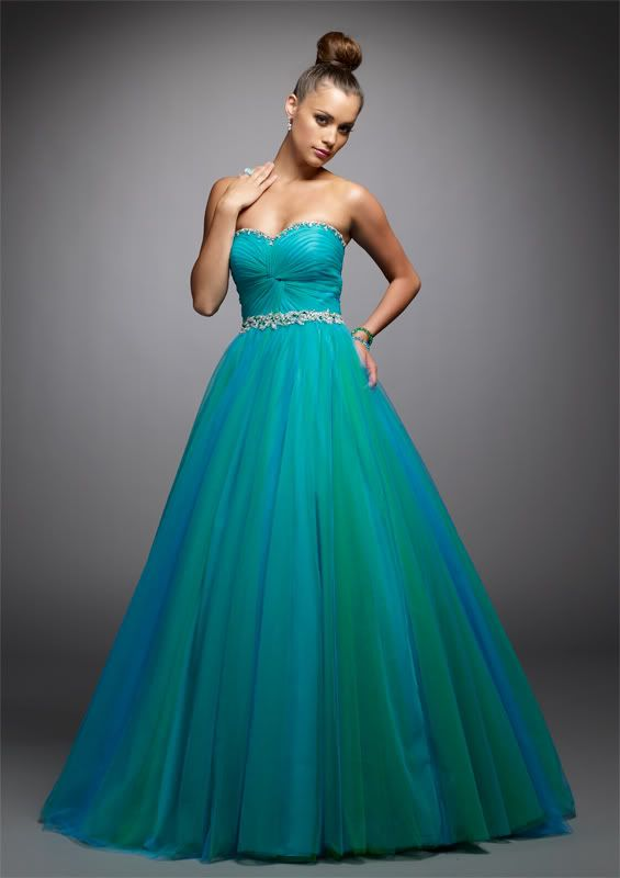 blue quinceanera dresses | Blue Tulle Prom Quinceanera Dress ...