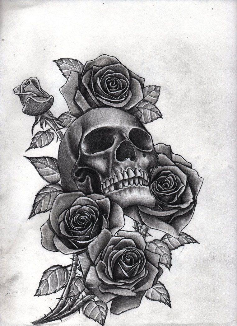 Roses And Skull By Bobby Castaldi Art Tattoo Sleeve Designs Best Sleeve Tattoos Small Pretty Tattoos