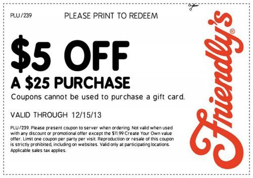 photograph regarding Friendly's Ice Cream Coupons Printable Grocery named Pin as a result of Friendlys discount codes upon Friendlys coupon codes Printable