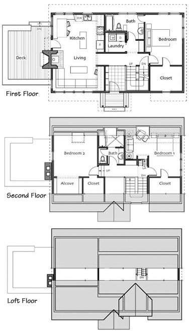 Part Of The Not So Big House Plans I Think This Would Be