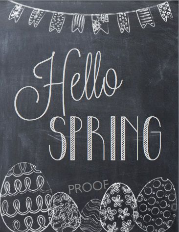 Images of Spring Chalkboard Sayings Quotes - #SC