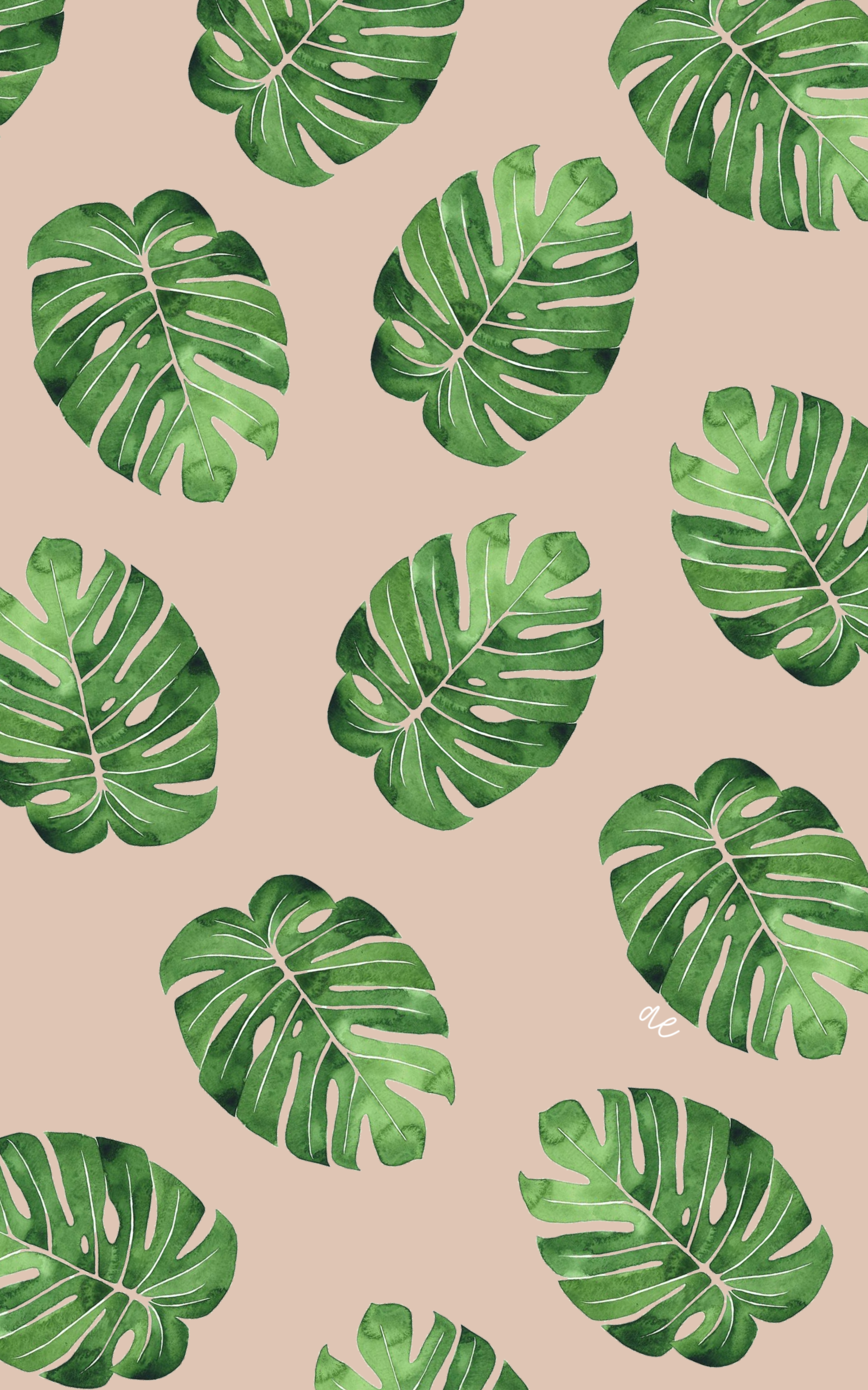 Palm Leaf Wallpaper in 2020 Leaves wallpaper iphone