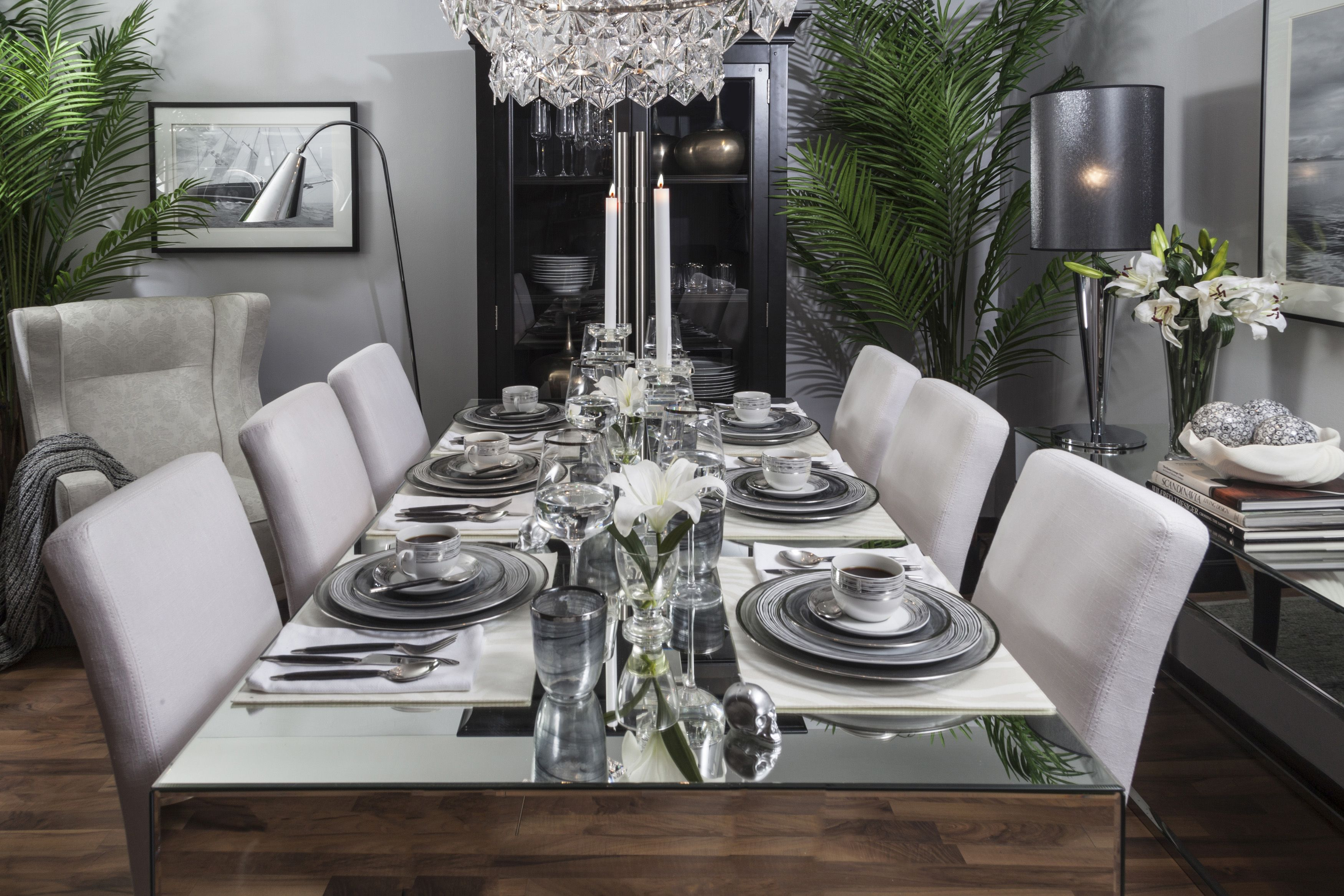 Dining Iconic Less Pattern More Solids Less Black More Grey