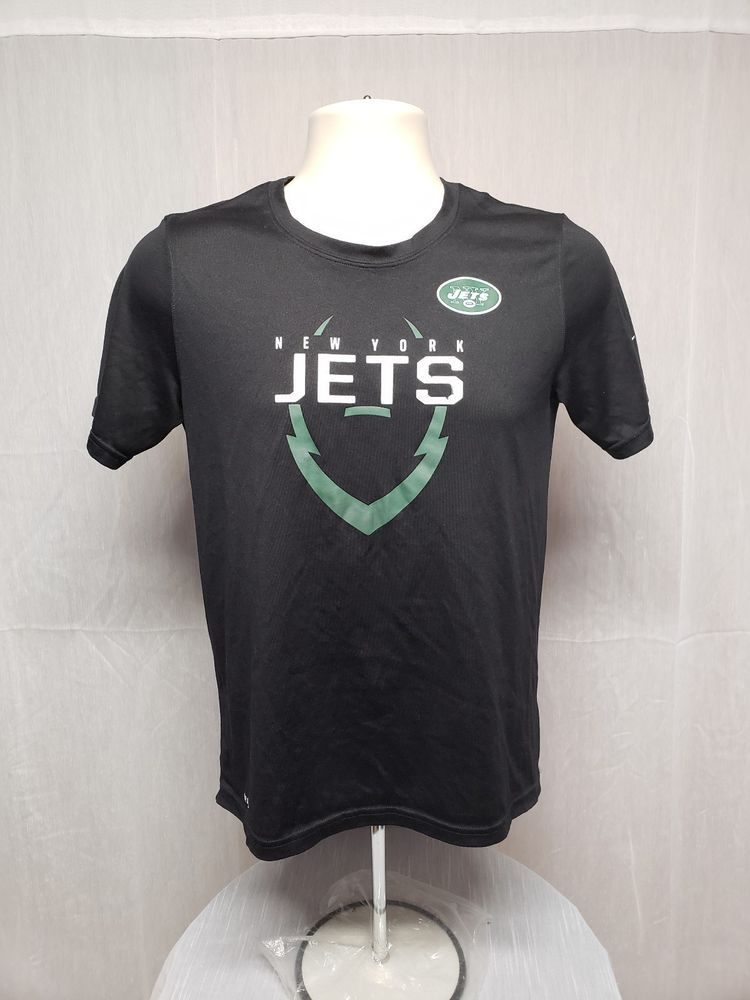 official photos 90891 1d052 Nike Dri Fit New York Jets Boys Large Black Jersey #Nike ...