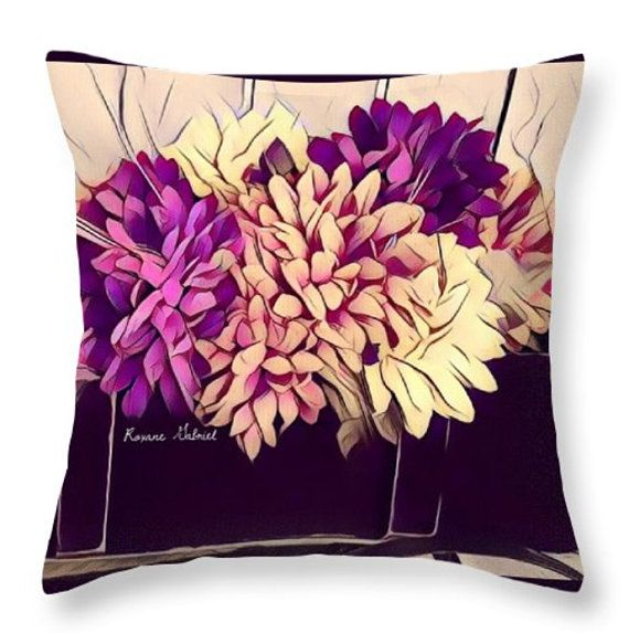 Country Throw PillowFlowers PillowCottage Stylepurple Accent Extraordinary Cottage Style Decorative Pillows