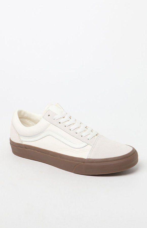e843d73a08 Vans Suede Canvas Old Skool White   Gum Shoes