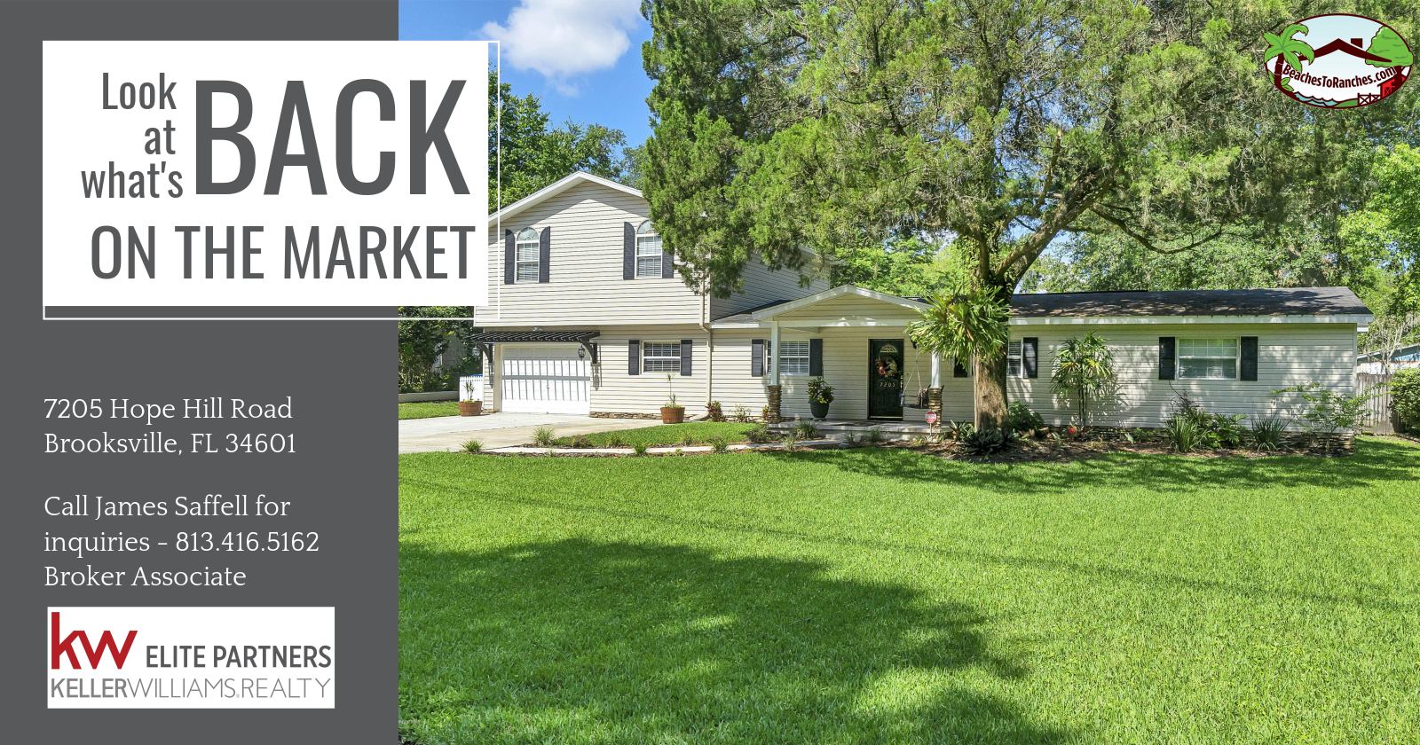Back On The Market 7205 Hope Hill Road Brooksville Fl 34601