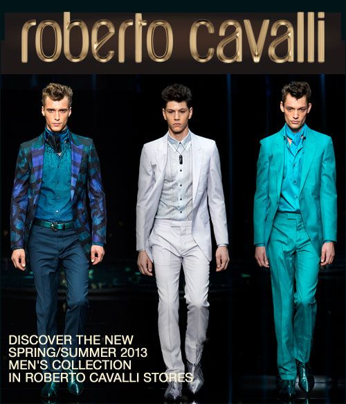 Roberto Cavalli Mens Collection S/S 2013