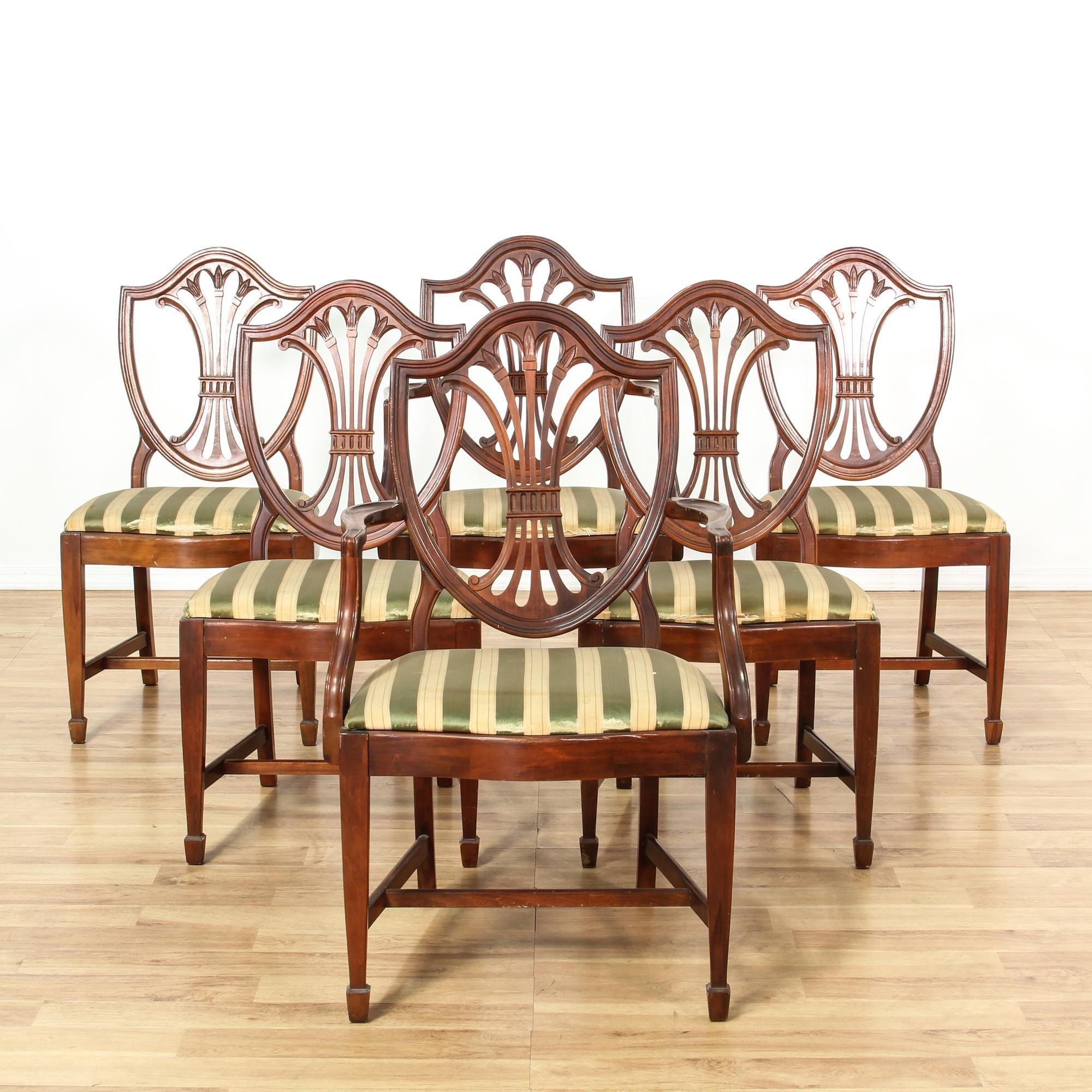 Set 6 Mahogany Hepplewhite Shield Back Chairs
