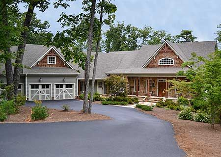 plan 29875rl: 4 bed craftsman with angled garage | plan plan