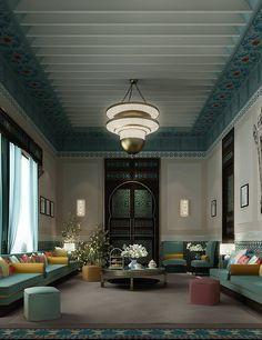 Luxury arabic majlis design by ions design dubai uae for Home decor uae