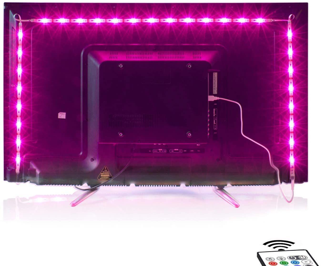 Led Tv Hintergrundbeleuchtung 2m Usb Led Beleuchtung Hintergrundbeleuchtung Fernseher Usb Fur 40 Bis 60 Zoll Hdtv Tv In 2020 Hintergrundbeleuchtung Led Beleuchtung Led