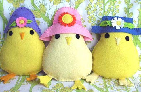 Lavoretti Di Pasqua In Feltro Pulcini Coniglietti E