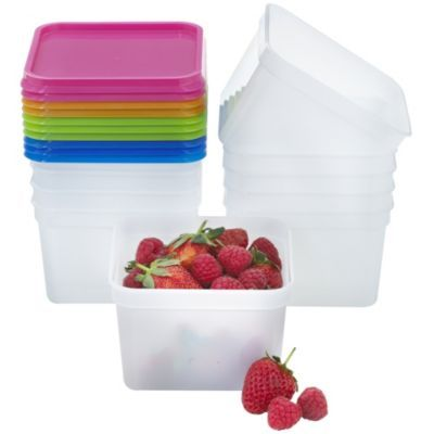 Stack a Boxes Food Storage Containers Lids 750ml x10 Grain Bowl