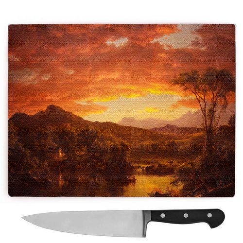 Frederic Edwin Church A Country Home Large Chopping Board Big Box
