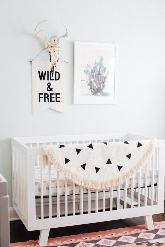 Our Hudson Crib In This Desert Inspired Boys Nursery Featured On 100layercake Serenaandlily