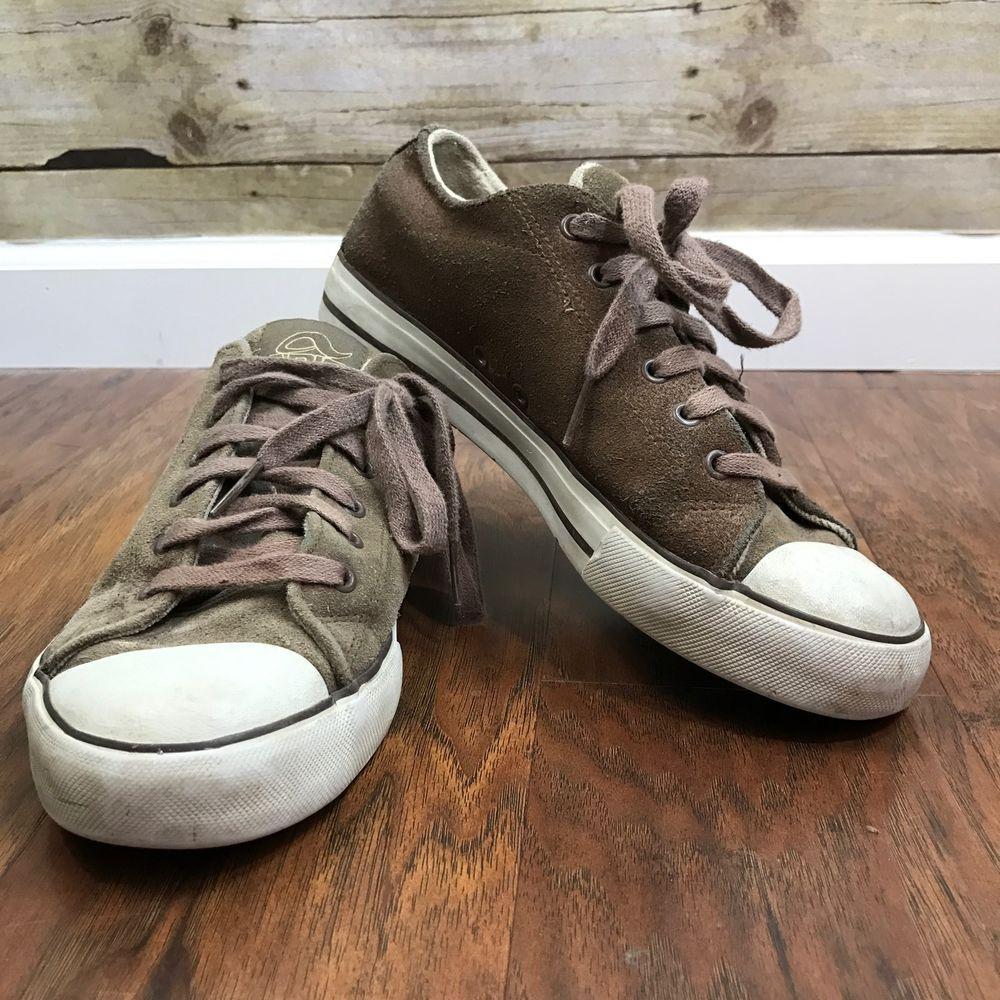853c5d11f Mens VTG Skate Shoes Adio Size 7.5 Classic Sneaker Brown White Shell Toe   Adio  SkateShow