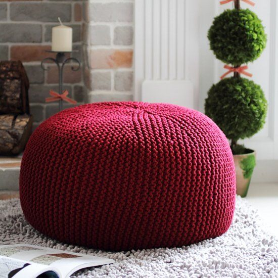 Get the perfect pouf knitting pattern. Stuff with cheap duvets or stool bean bag to complete. thanks so xox