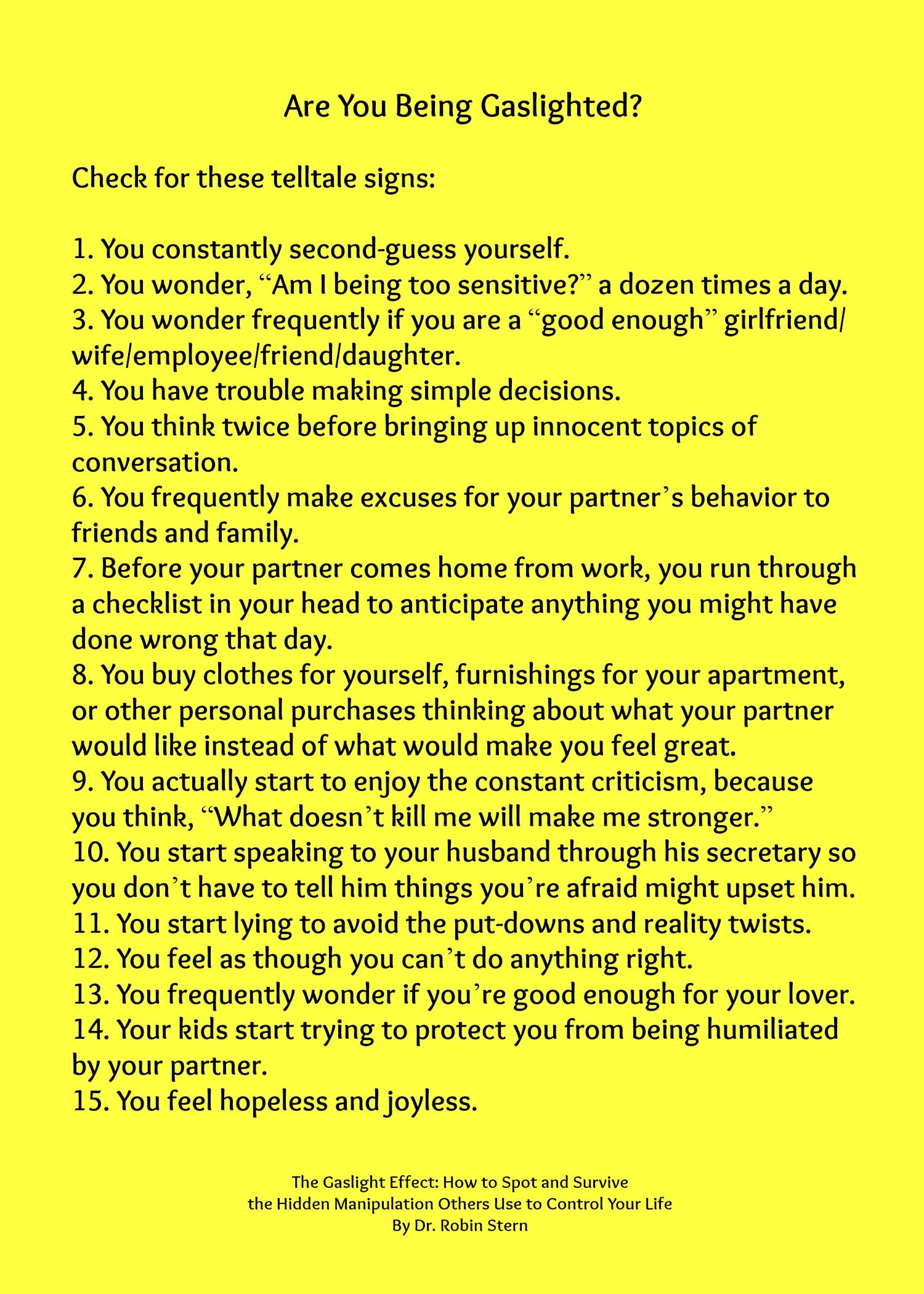 10 signs dating narcissist
